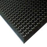 NOTRAX 562S0310BL Black Mini-Diamond Studded Top Drainage Runner 3 ft. W x 10