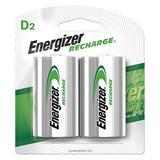 ENERGIZER NH50BP-2 Precharged Recharg Battery,D,NiMh,PK2