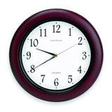 "ZORO SELECT 6NN69 14"" Analog Quartz Wall Clock, Burgundy"