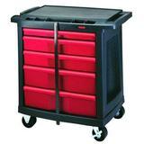 "RUBBERMAID FG773488BLA 5 drawer 33-1/2"" Mobile Work Station"