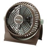 "AIR KING 9525 9"" Table & Floor Fan, Non-Oscillating, 2 Speeds, 120VAC, Brown"