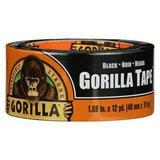 GORILLA TAPE 60124 Duct Tape,1.88 in. x 12 yd.,17 mil,Black