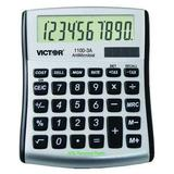 VICTOR 1100-3A Portable Calculator,LCD,10 Digits