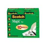 SCOTCH 810P10K Office Tape,Transparent,3/4x1000In,PK10