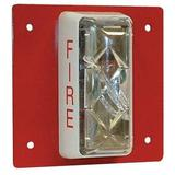 EDWARDS SIGNALING CS405-7A-T Strobe,Steel,Red