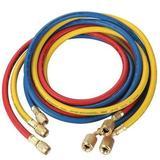 DAYTON 4PDG4 Manifold Hose Set,72 In,Red,Yellow,Blue