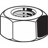 "FABORY U01120.062.0002 5/8""-18 Grade 5 Plain Finish Carbon Steel Hex Nuts, 25"