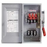 SIEMENS HF361 Fusible Single Throw Safety Switch, Heavy Duty, 600V AC, 3PST, 30