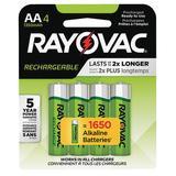 RAYOVAC LD715-4 GENE Precharged Recharg. Battery,AA,NiMh,PK4
