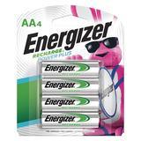 ENERGIZER NH15BP-4 Precharged Recharg Battery,AA,NiMh,PK4