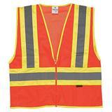 KISHIGO 1055-4X 4XL Class 2 High Visibility Vest, Orange