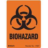 BRADY 17697LS Warning Label,4 In. H,2-7/8 In. W,PK500