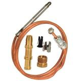 ROBERTSHAW 1980-030 Thermocouple, LP/NG, 25 to 30mV, 30 in L., Snap-Fit,
