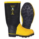 VIKING VW49T-15 Size 15 Unisex Steel Rubber Boot, Black/Yellow