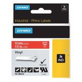 DYMO 1805416 Label Tape Cartridge, White/Red, Labels/Roll: Continuous