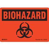 BRADY 20334LS Biohazard Label,3-1/2 In. H,5 In. W,PK20