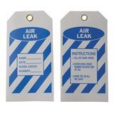BRADY 8CV32 Air Leak Tag,5-3/4 x 3 In,Bl/Wht,PK10