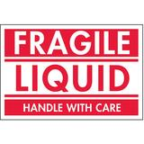 "TAPECASE 16U879 2"" x 3"" Adhesive Back Shipping Labels, Fragile Liquid, Pk500"