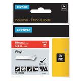 DYMO 1805422 Label Tape Cartridge, White/Red, Labels/Roll: Continuous