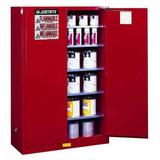 JUSTRITE 894511 Paints and Inks Cabinet, 60 gal., Red