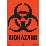 BRADY 31419LS Biohazard Label,7 x 10 In,PK10