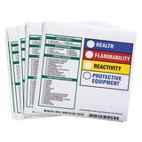 """BRADY 99181 Square HMIG Reactivity Label 6""""H x 6""""W, Multicolor, Pk100"""