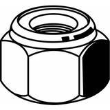 "FABORY U12411.100.0001 1""-8 Grade 8 Plain Finish Steel Nylon Insert Lock Nut, 5"