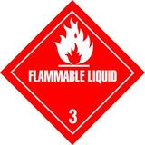 "TAPECASE 16U813 4"" x 4"" Adhesive Back Shipping Labels, Flammable Liquid, Pk500"