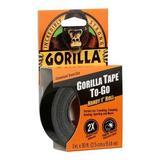 GORILLA TAPE 6100109 Duct Tape,1 In x 30 ft,17 mil,Black