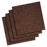 QUARTET 101 Bulletin Board Tiles,Dark,PK4