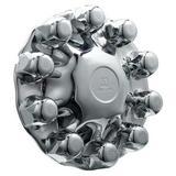 ALCOA 086100B Front Hub Cover, 33mm, Chrome