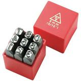 ZORO SELECT 20Y591 Hand Stamp,3/16 In,Number Set