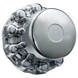 ALCOA 087100B Rear Hub Cover, 33mm, Chrome