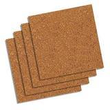 QUARTET 102 Bulletin Board Tiles,Natural,PK4
