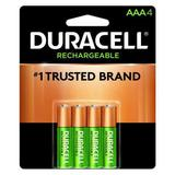 DURACELL DX2400R4 Precharged Recharg. Battery,AAA,NiMh,PK4