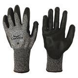 CONDOR 21AH69 Cut Resistant Coated Gloves, A4 Cut Level, Polyurethane, M, 1 PR