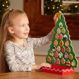 Melissa & Doug Countdown to Christmas Wooden Advent Calendar Wood in Brown/Green/Red, Size 16.5 H x 12.0 W x 4.25 D in | Wayfair 3571