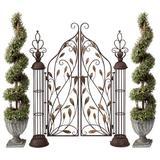 "Design Toscano The Princess' Entryway Metal Garden Gate, Size 66""H X 54""W X 10""D | Wayfair FU71435"