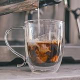 Grosche Cyprus 16.91 oz. Double Walled Mug Glass in Brown, Size 5.75 H x 5.5 W in | Wayfair GR 179