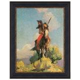 Vault W Artwork Crow Outlier 1896' Picture Frame Print on Canvas Canvas & Fabric in Blue/Brown/Yellow, Size 42.75 H x 32.75 W x 1.0 D in | Wayfair