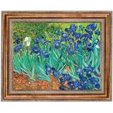 Vault W Artwork Irises 1889 - Picture frame Print on Canvas Canvas & Fabric in Blue/Brown/Green, Size 29.25 H x 35.25 W x 1.0 D in | Wayfair DA4732