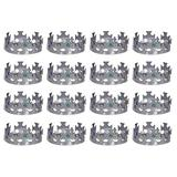 Beistle 12 Piece Plastic Novelty Medieval Theme Jeweled Royal King's Crowns Mardi Gras Dress Up Costume Accessory