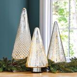 Lit Mercury Glass Trees Medium - Ballard Designs