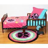 One Grace Place Magical Michayla 4 Piece Toddler Bedding Set 100% Cotton in Black/Blue/Green | Wayfair 10-24123