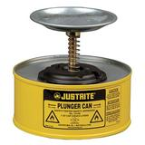 JUSTRITE 10118 Plunger Can,1 qt.,Steel,Yellow