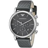 Emporio Armani Men's AR1735 Dress Grey Leather Watch