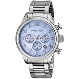 Nautica Men's N17647G BFD 101 CHRONO Analog Display Quartz Silver Watch