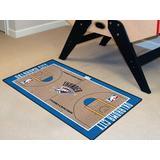FANMATS Oklahoma City Thunder NBA Court Runner Non-Slip Indoor Only Door Mat in Brown, Size 29.5 W x 54.0 D in | Wayfair 9410