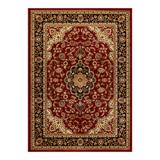 Well Woven Barclay Medallion Kashan Traditional Persian Floral Plush Area Rug, Red, 2X9 Ft