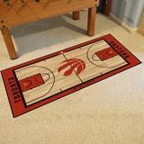Toronto Raptors NBA Court Runner FANMATS Non-Slip Indoor Only Door Mat in Black/Brown/Red, Size 24.0 W x 44.0 D in   Wayfair 9507